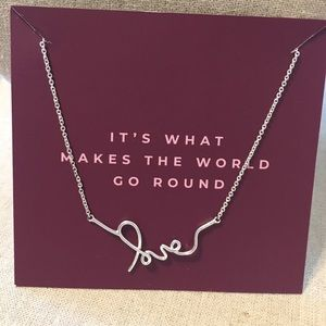Stella & Dot Love Necklace Silver